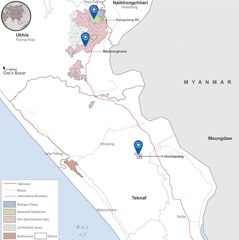 Ärzte der Welt ist an drei Standorten in Bangladesch aktiv