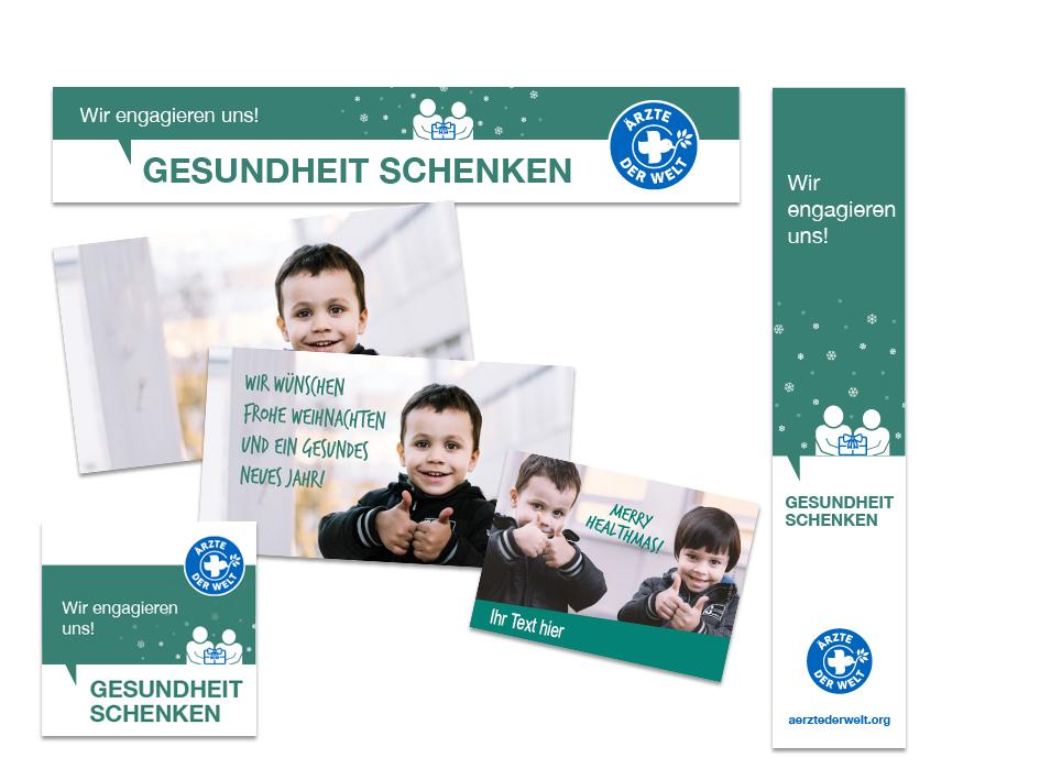 Kommunikationsmaterial für Ihre Weihnachtsaktion.