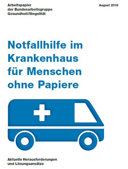 BAG Gesundheit_Illegalität_Arbeitspapier Notfallhilfe im Krankenhaus_August 2019