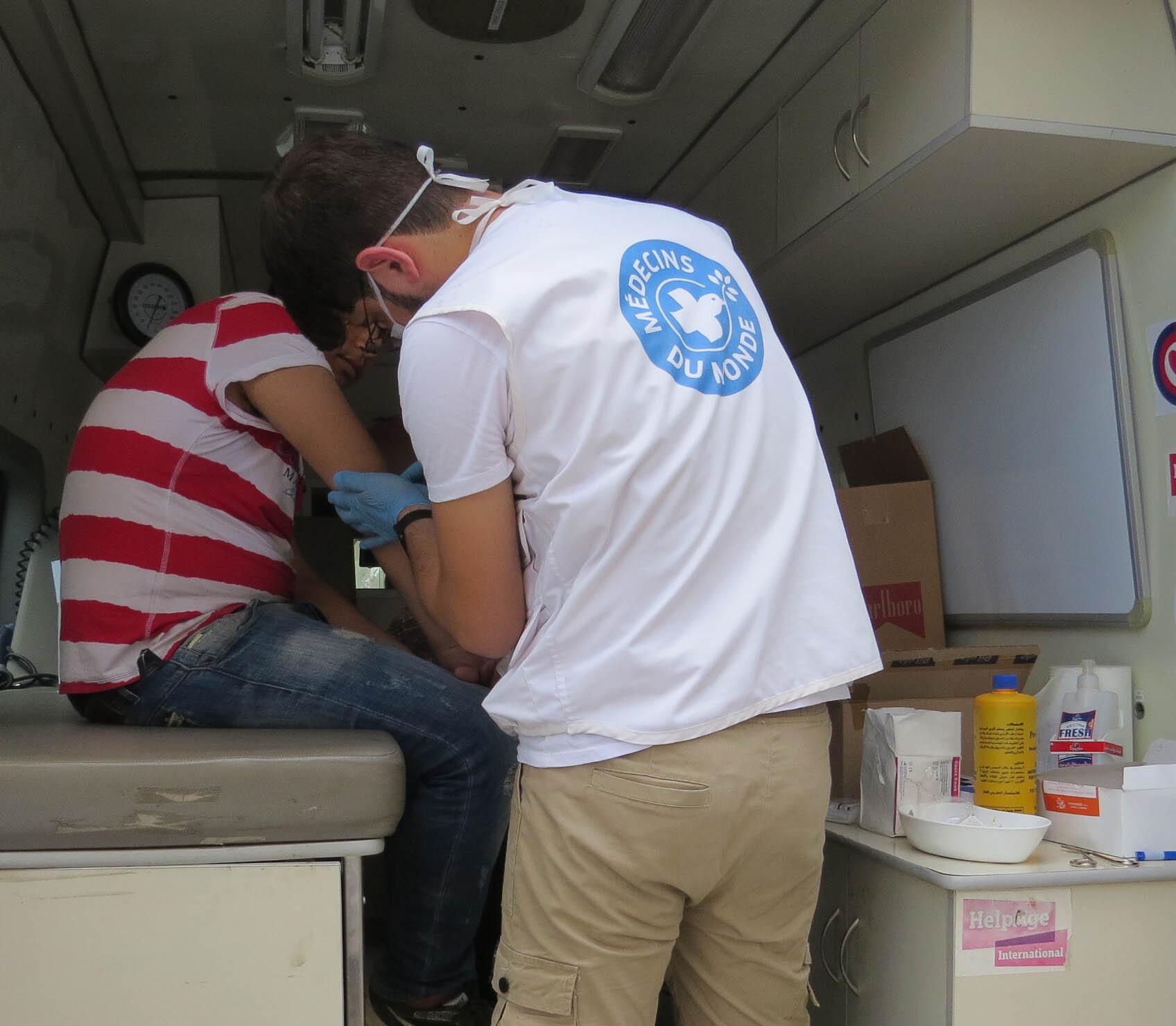 Die Teams von Ärzte der Welt sind auch mobil unterwegs, um Menschen zu versorgen. Foto: Ärzte der Welt