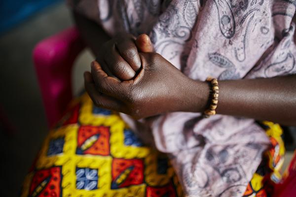 Geneviève, Opfer sexueller Gewalt, ZAR. Foto: Christophe Da Silva