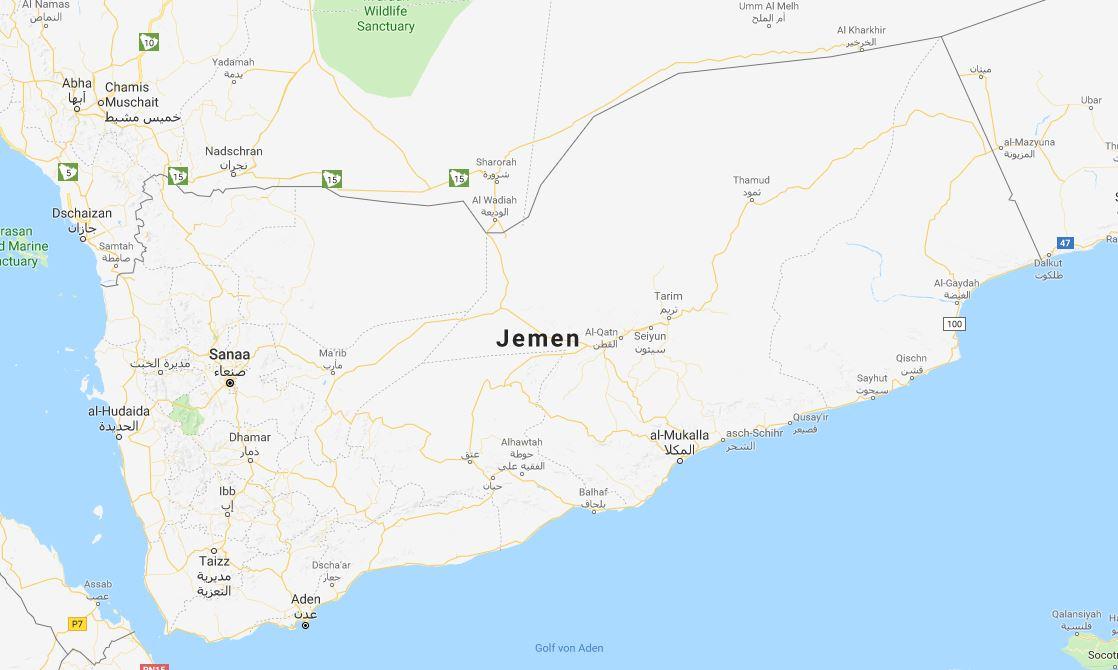Im Jemen ist Ärzte der Welt in den Regierungsbezirken Amanat Alasimah, Sana'a und Ibb tätig. Foto: Google Maps