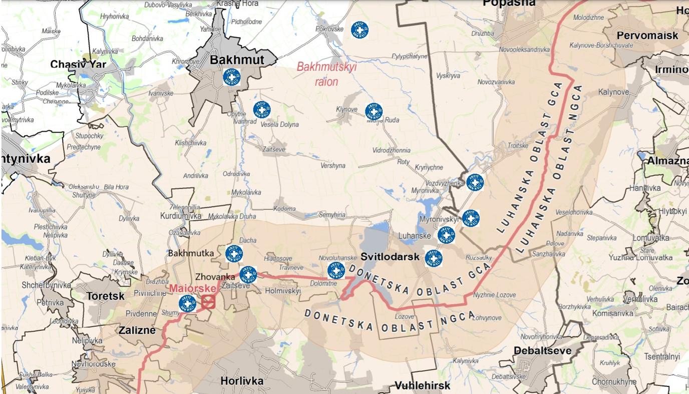 Ärzte der Welt-Gesundheitszentren in der Ostukraine