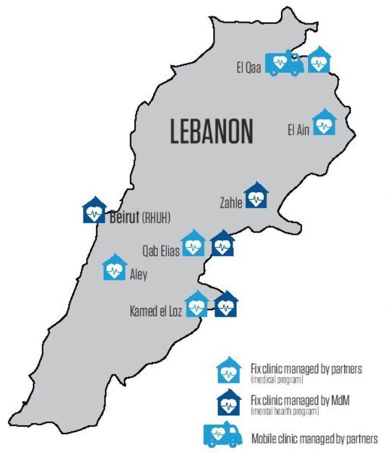 Aktivitäten von Ärzte der Welt in Jordanien in 2017. Grafik: Ärzte der Welt