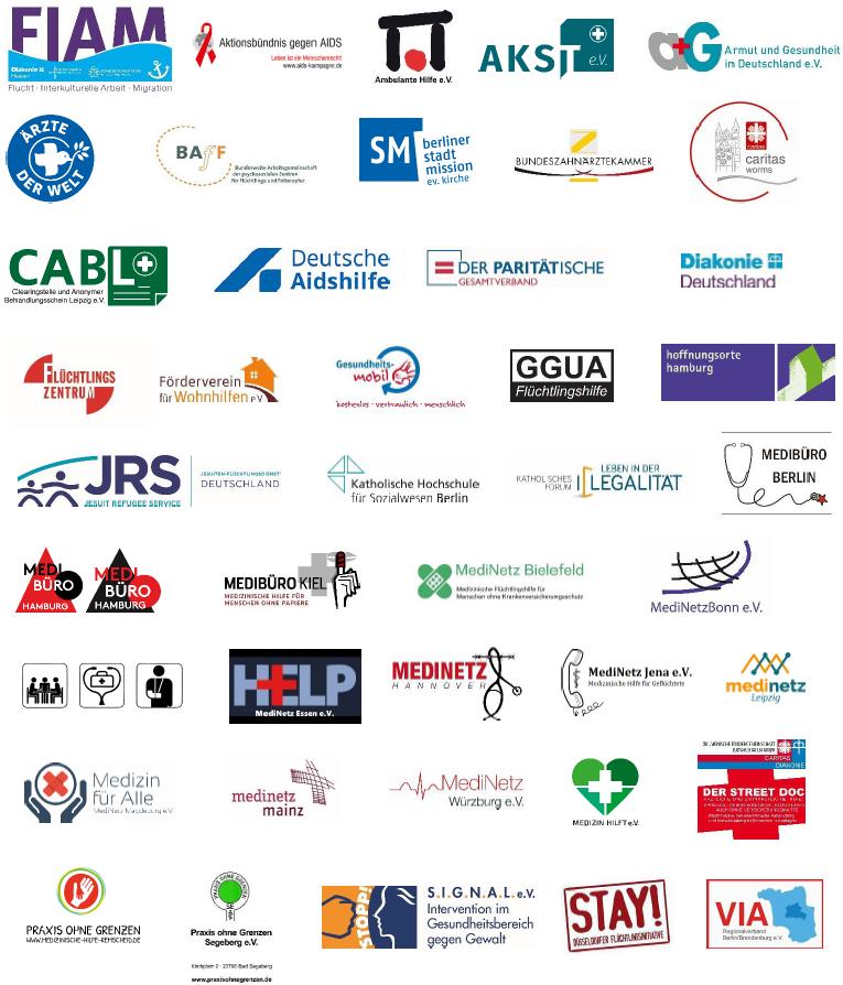 Unterzeichnende Organisationen des Offenen Briefs an den Krisenstab zur Bekämpfung der Covid-19-Epidemie