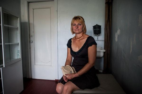 Ludmila, Patientin in Luhansk, Ukraine. Foto: Ärzte der Welt