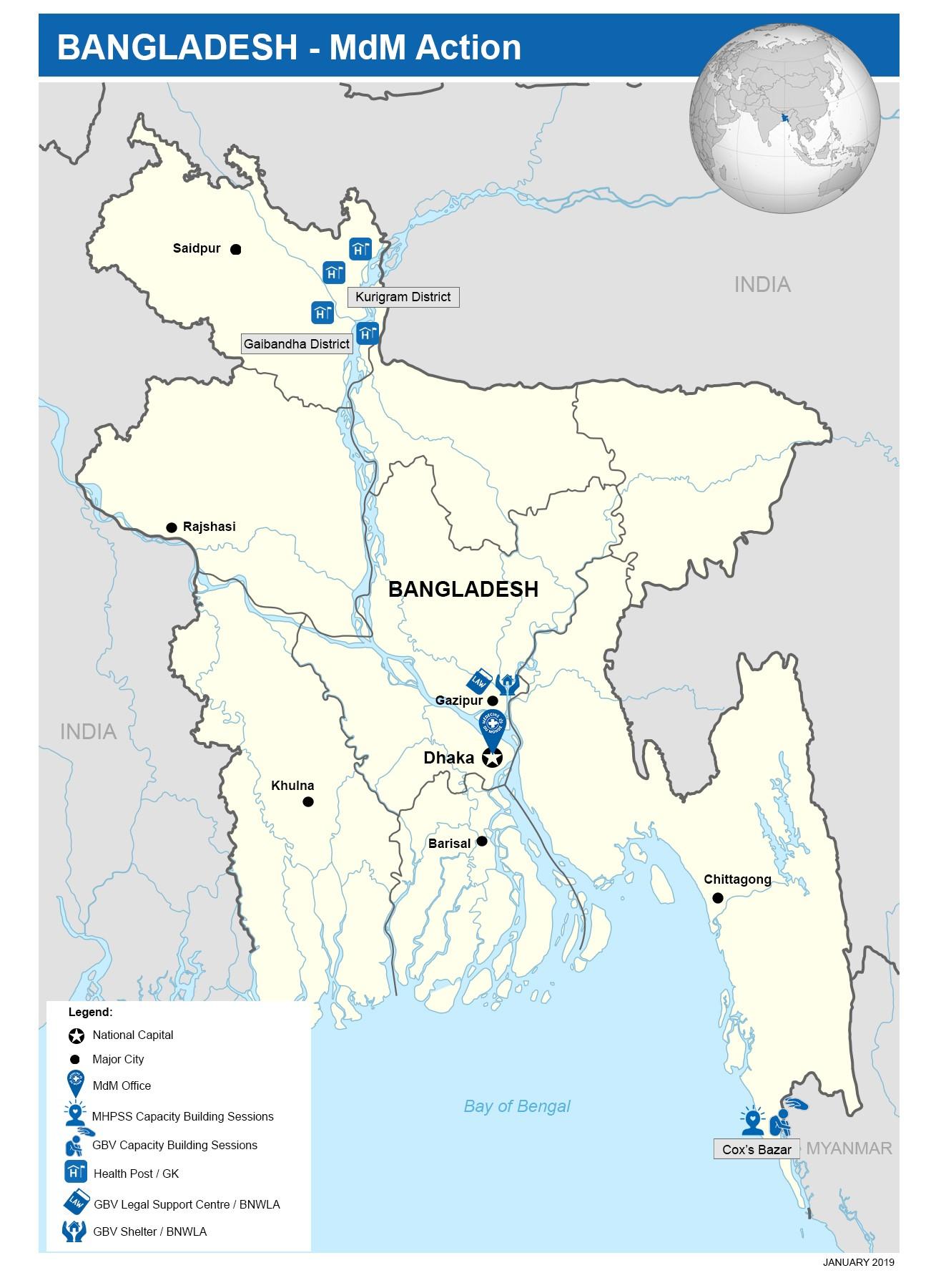Ärzte der Welt ist an mehreren Orten in Bangladesch aktiv.