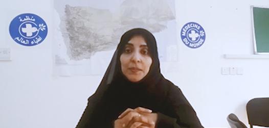 Wafa'a Alsaidy berichtet im Interview. Foto: Ärzte der Welt