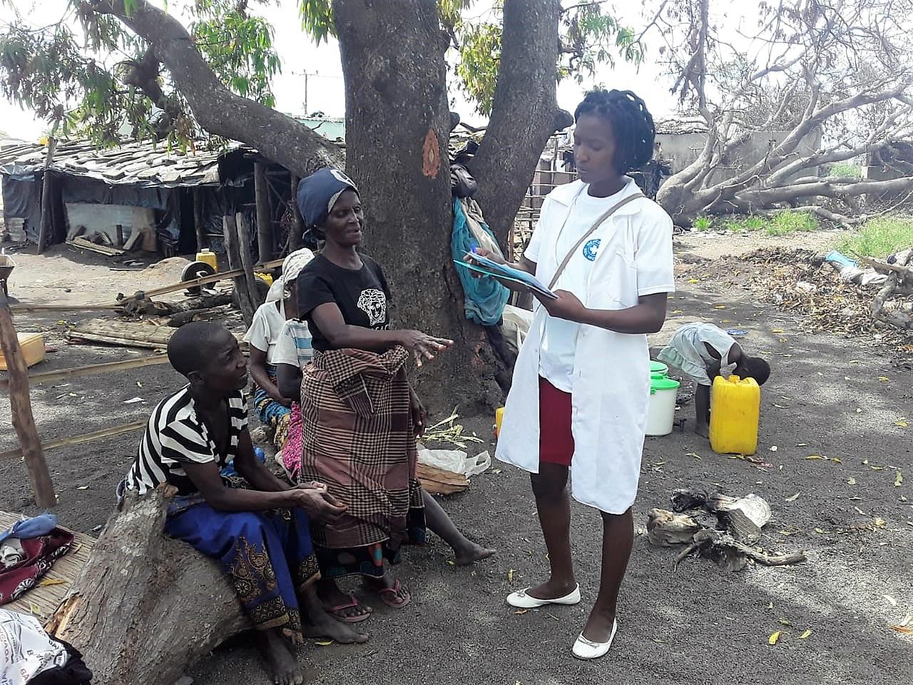 Nach der Sturmkatastrophe in Mosambik leisten Ärzte der Welt der Bevölkerung medizinische Hilfe