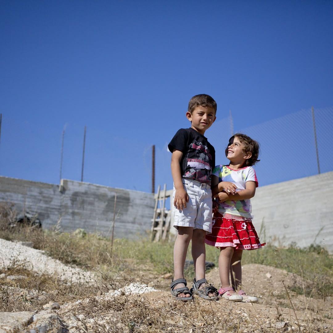 Kinder in Palästina Foto: Bruno Fert