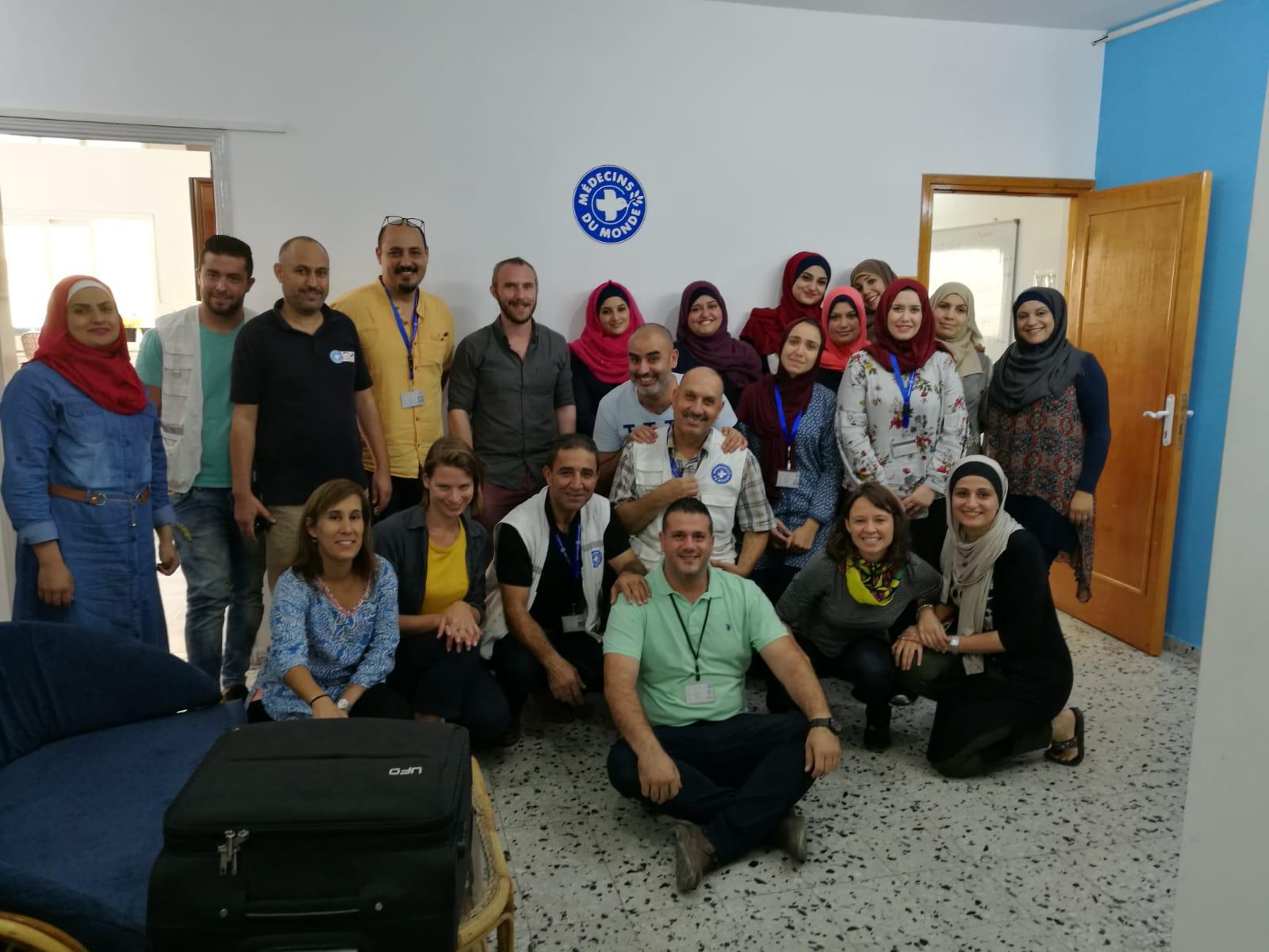 Das Team in Gaza