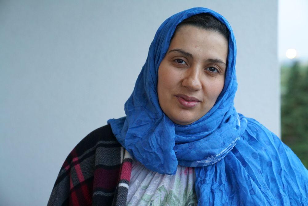 Wafaa Ladkani musste aus Idblib / Syrien fliehen