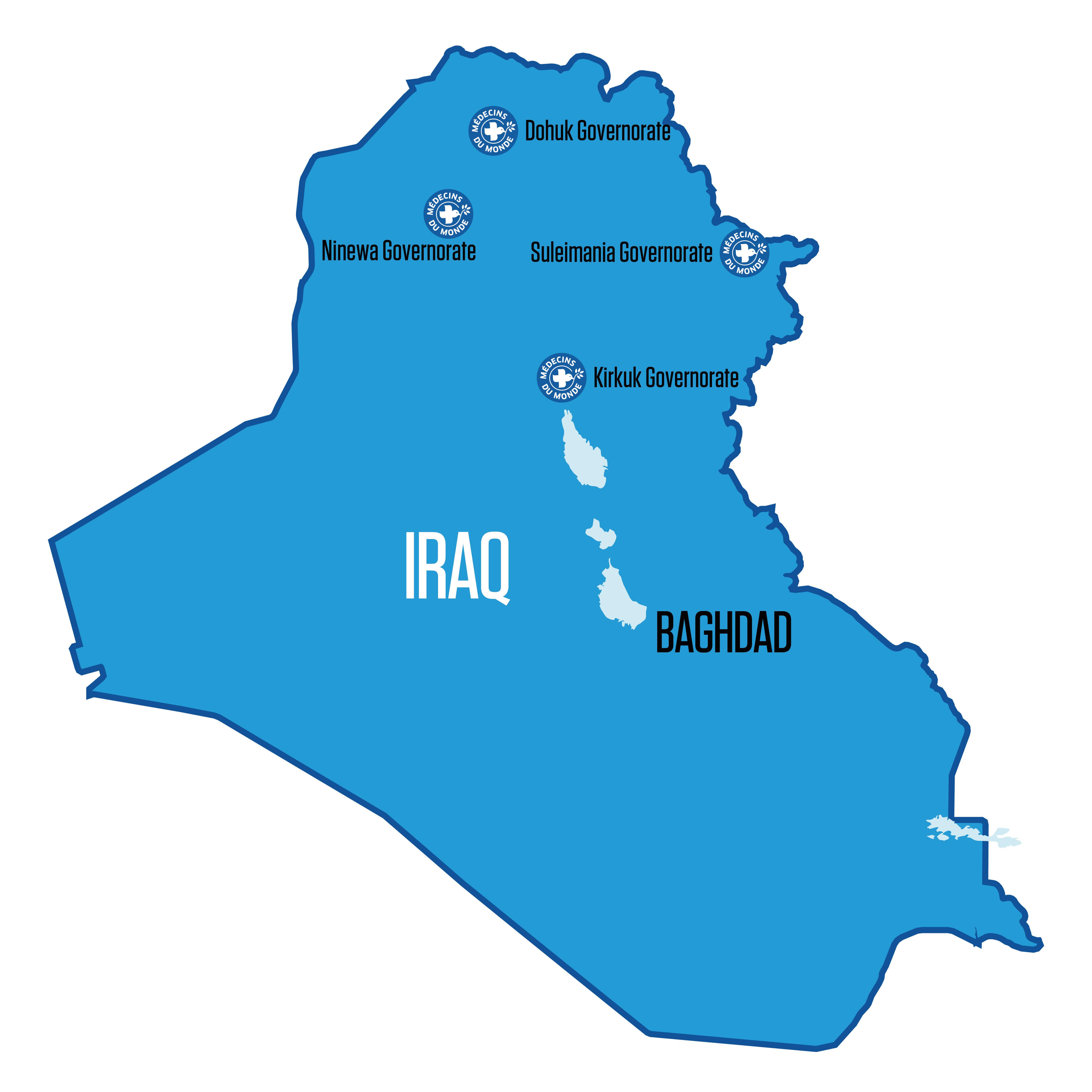 Ärzte der Welt ist in vier Regionen im Irak aktiv.