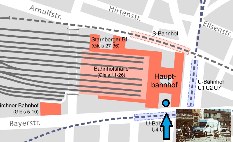 Einsatzort open.med München - Hauptbahnhof Süd