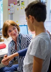 Versorgung in der Kindersprechstunde in Hamburg. Foto: Bente Stachowske