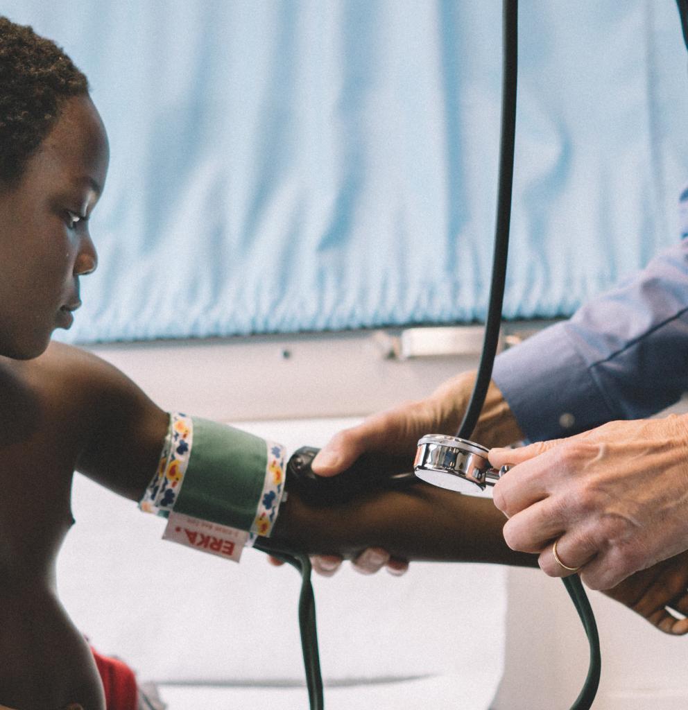 Patient im Münchner Behandlungsbus. Foto: Ärzte der Welt