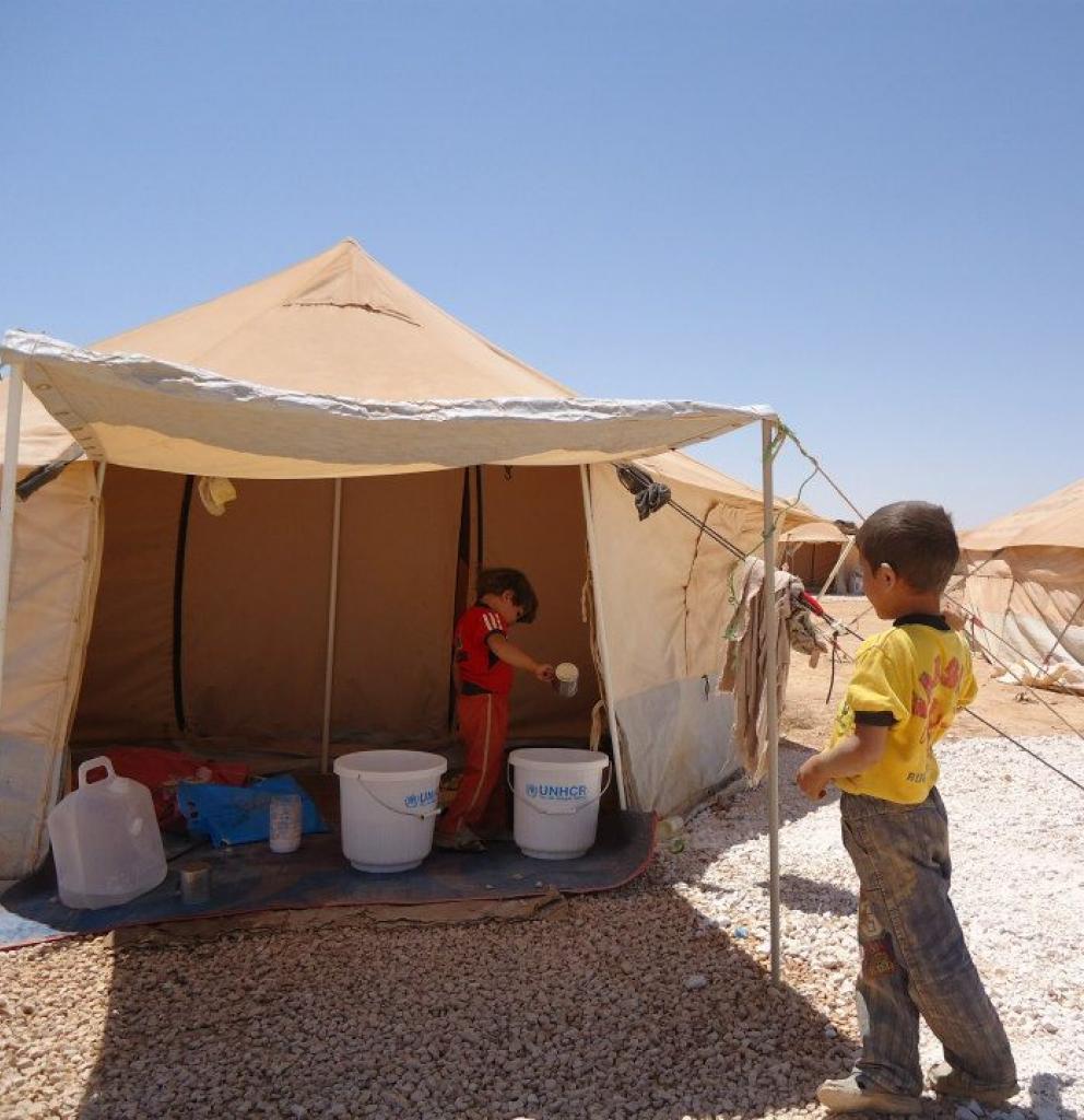 Die Flüchtlinge in den syrischen Camps sind auf humanitäre Hilfe angewiesen. Foto: Cecile Genot