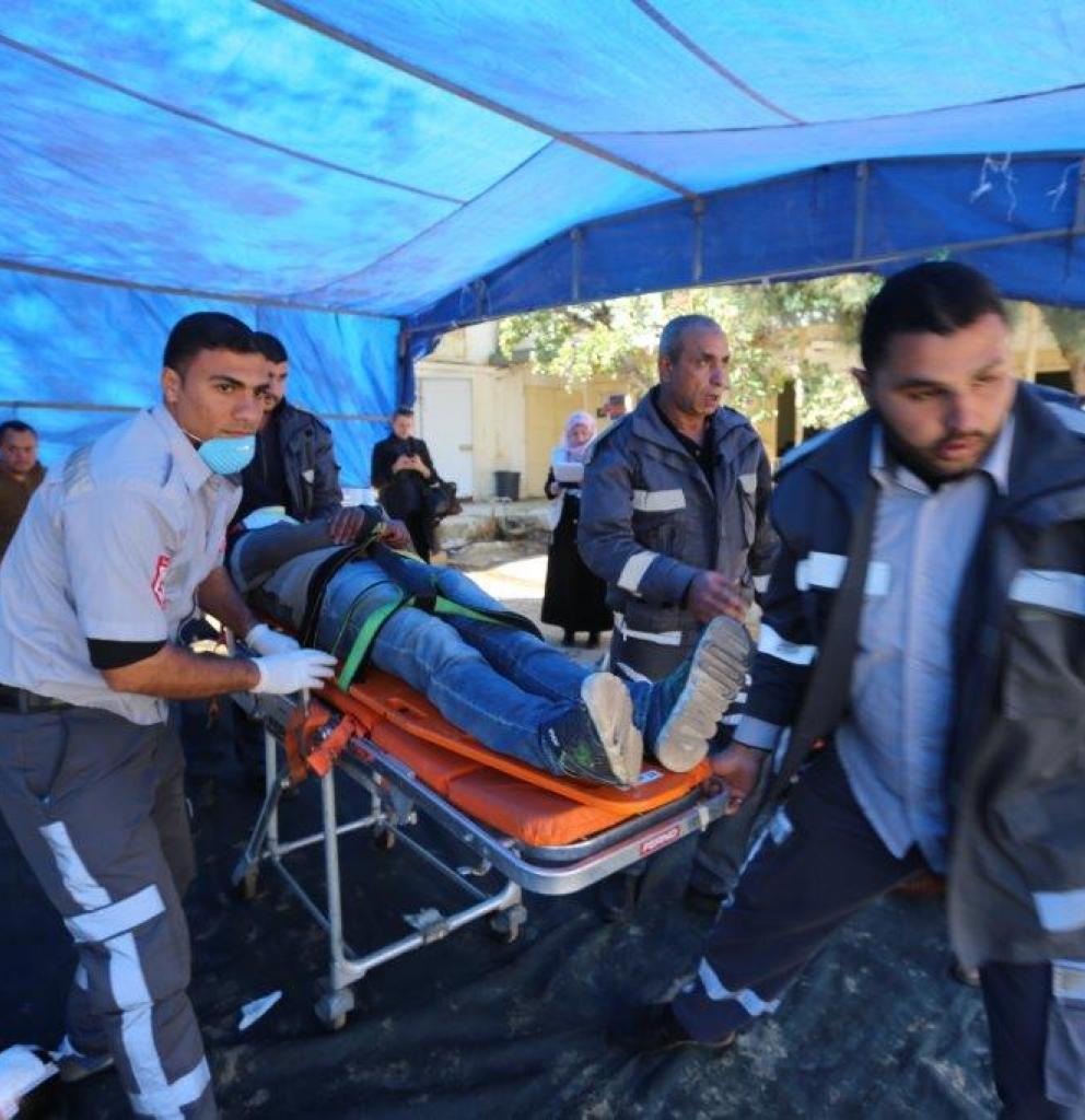 Gesundheitspersonal in Gaza trainiert für den Ernstfall