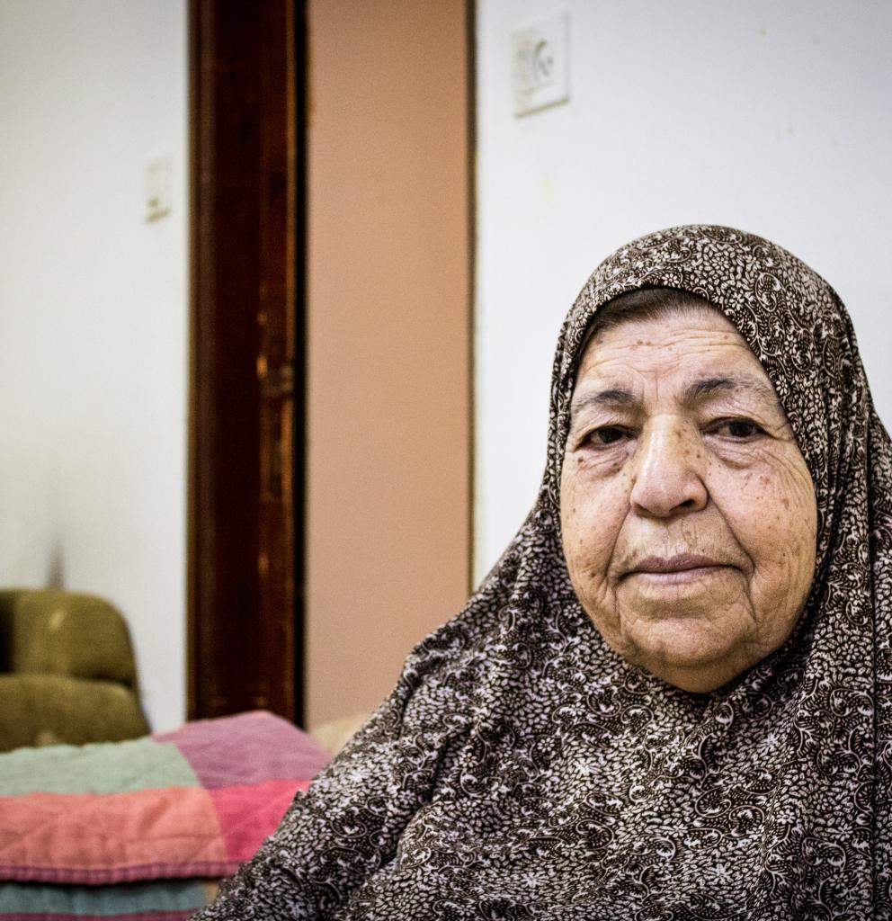 Eine Palästinenserin im Flüchtlingslager Shuafat