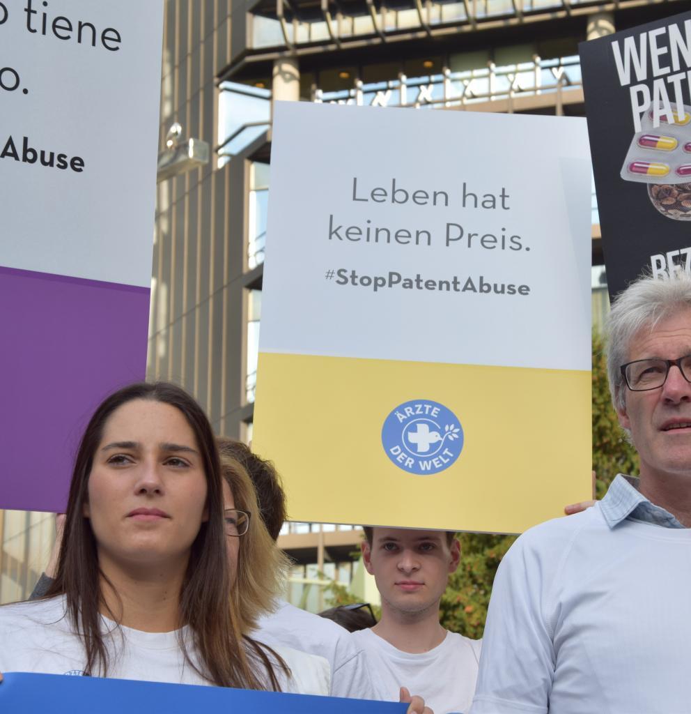 Protest vor dem Europäischen Patentamt