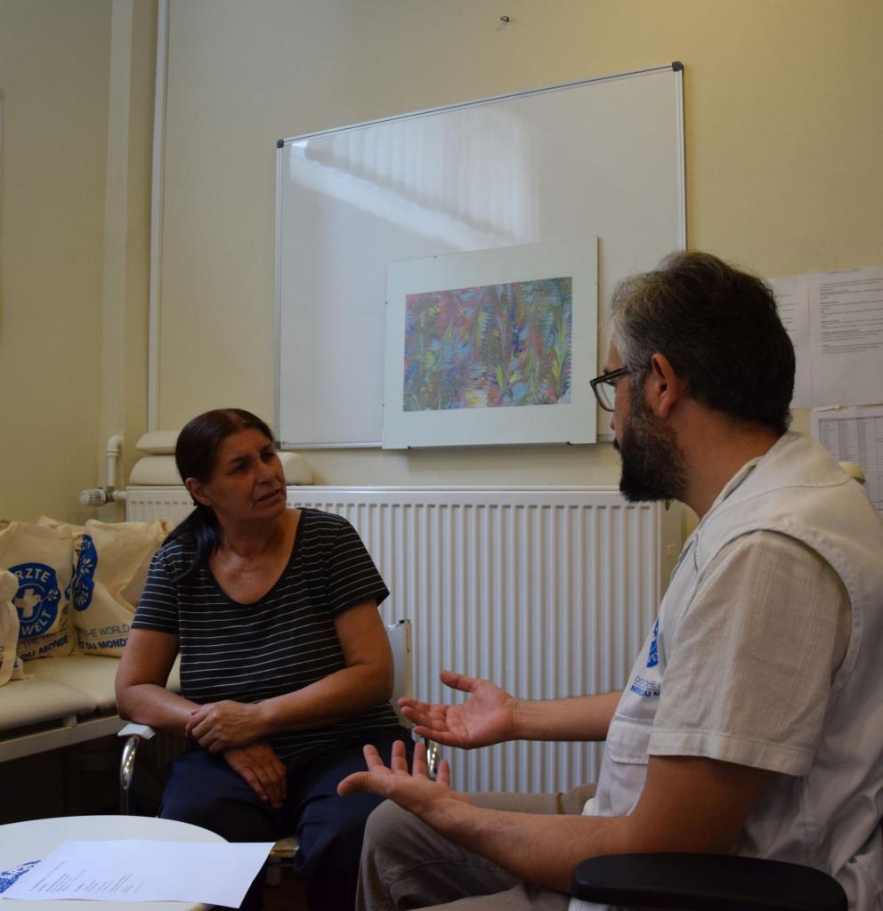 Medizinische Anlaufstelle open.med München. Foto: Ärzte der Welt
