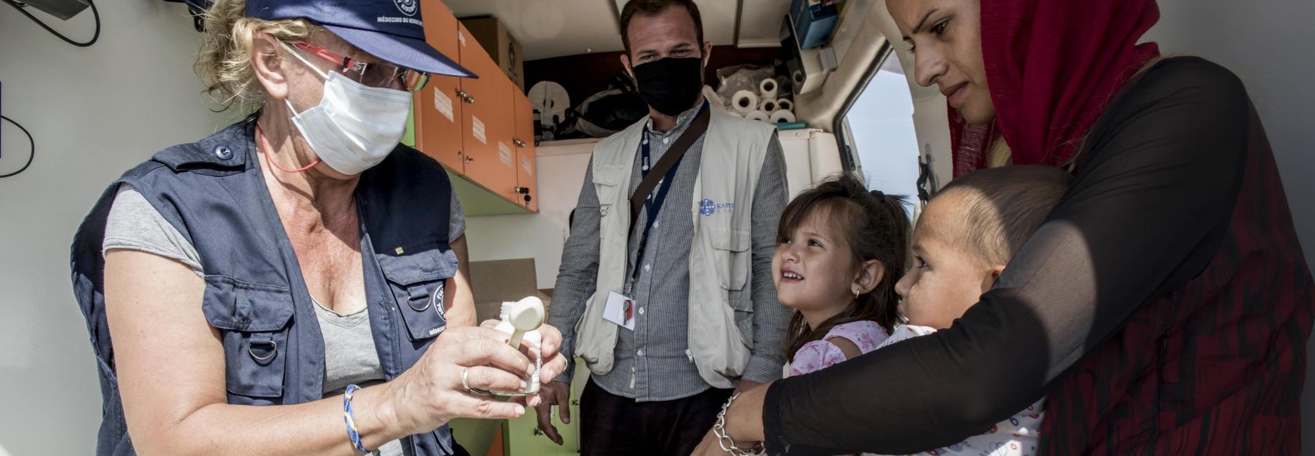 Medizinische Hilfe auf der griechischen Insel Lesbos.
