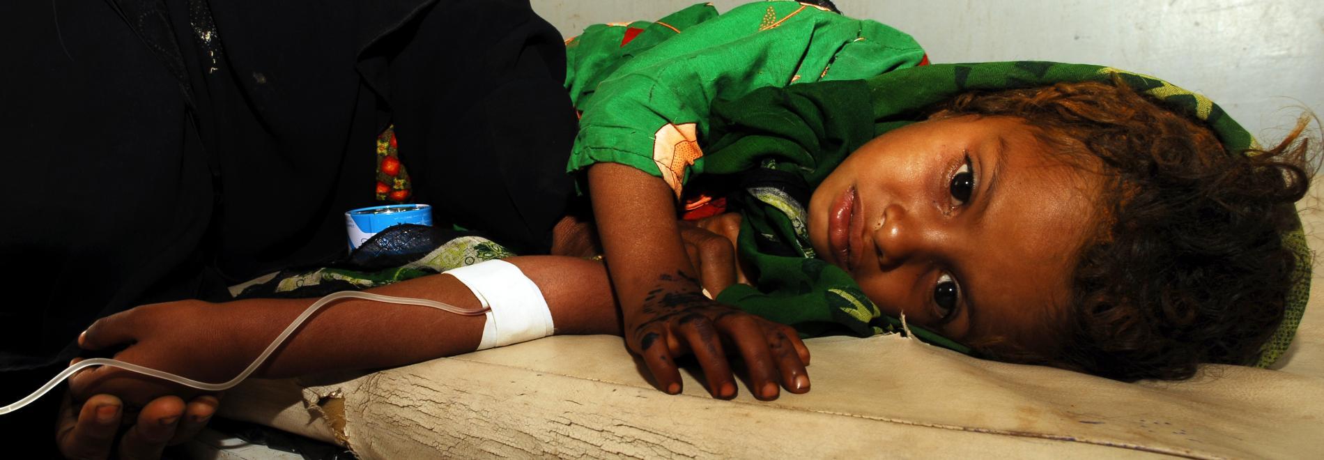 Vor allem Kinder sind im Jemen von der Cholera bedroht. Foto: Jean Baptiste Lopez