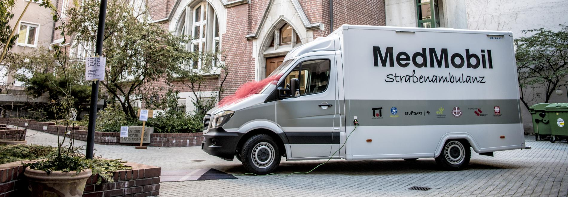 Einweihung des neuen MedMobil in Stuttgart