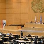 Sitzungssaal des UN-Sitzes in Genf