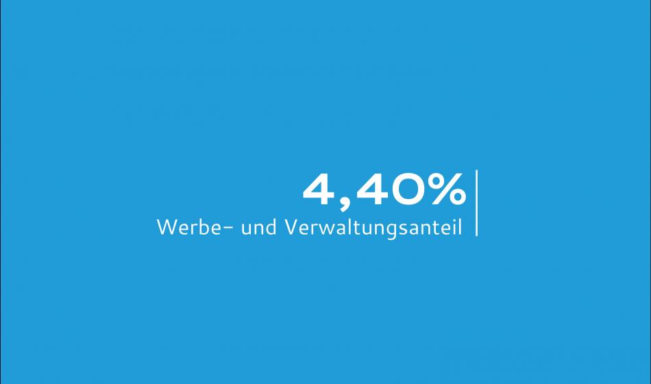 4,4 Prozent Werbe- und Verwaltungsanteil
