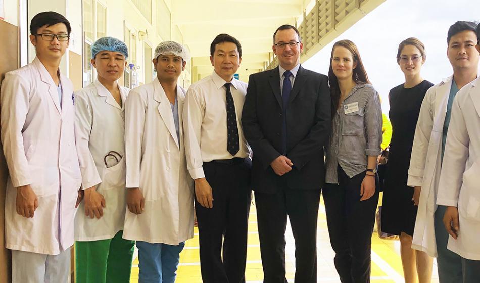 Das Ärzte der Welt Team beim Einsatz in Phnom Penh