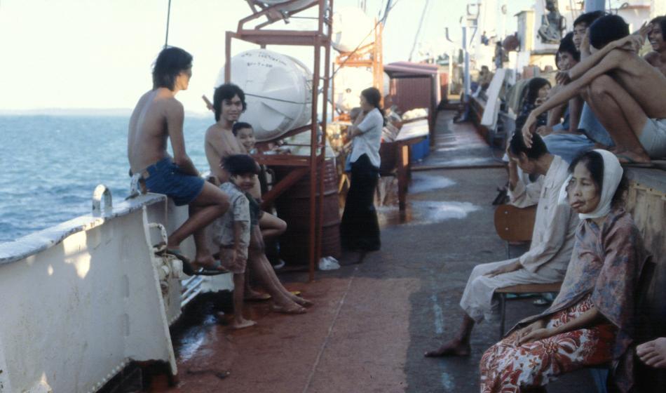Rettung von vietnamesischen Bootsflüchtlingen: Die Geburtsstunde von Ärzte der Welt. Foto: P. Deloche