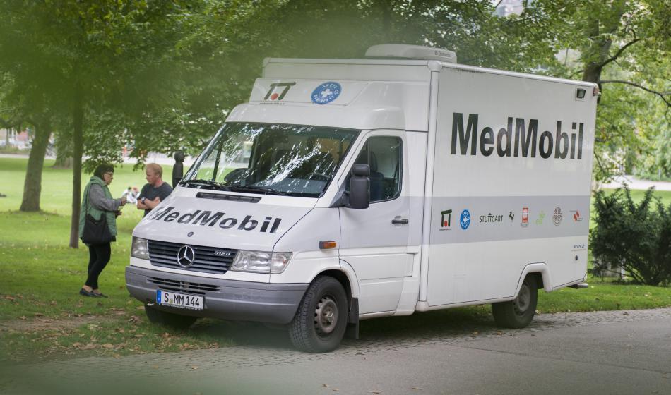 Das MedMobil bietet Menschen anonym und kostenlos medizinische Hilfe in Stuttgart. Foto: Katharina Meier