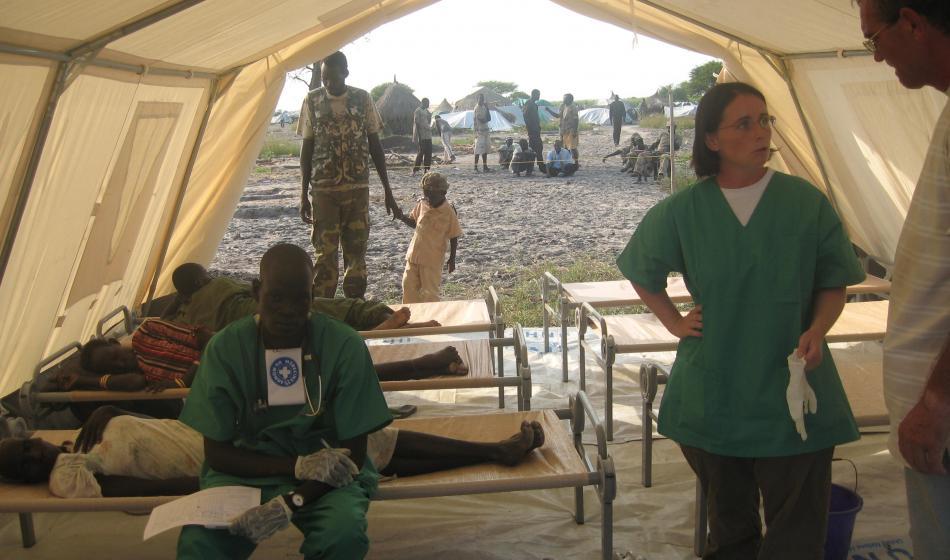 Ärzte der Welt versorgt die vom Konflikt betroffene Bevölkerung im Sudan. Foto: Ärzte der Welt