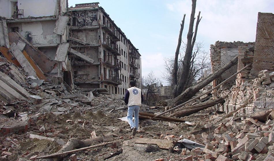 Trümmerlandschaft: Aufgrund des gewaltsamen Konflikts mussten tausende Menschen ihr zuhause verlassen. Foto: Ärzte der Welt
