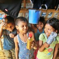 Kinder im Flüchtlingslager Kutupalong, in Bangladesch