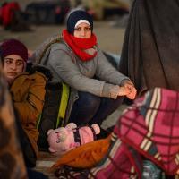 Flüchtende in griechischen Camps, Foto: Reuters
