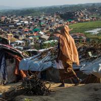 Eine Frau im Flüchtlingscamp Cox's Bazar. Foto: Arnaud Finistre