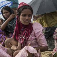 Frauen in den Flüchtlingscamps sind besonders gefährdet. Foto: Arnaud Finistre