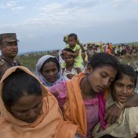 Geflohene Rohingyas in Bangladesch. Foto: Arnaud Finistre