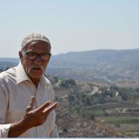 Ein alter Mann im Westjordanland