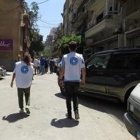 Ein Ärzte der Welt-Team unterwegs in Beirut. Foto: Ärzte der Welt