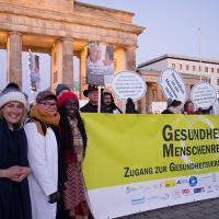 Demonstration für Gesundheitsversorgung in Deutschland- Foto: Renata Chueire