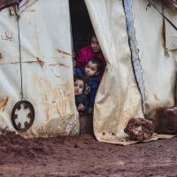 Kinder in einem syrischen Flüchtlingscamp. Foto AFP / Esra Hacioglu