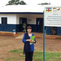 Mariam Janssen-Yousaf besuchte Ärzte der Welt-Projekte in der Zentralafrikanischen Republik. Foto: Ärzte der Welt