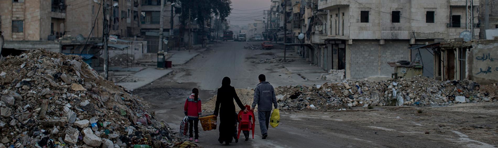Die zerstörte Stadt Aleppo. Foto: Niclas Hammarström
