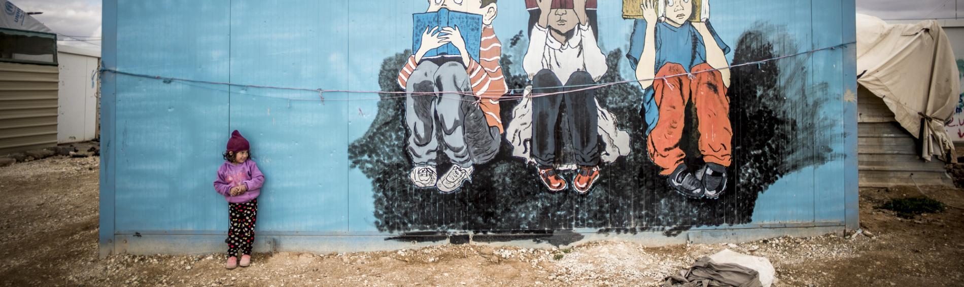 Im Lager vom Zaatari, Jordanien. Foto: Olivier Papegnies