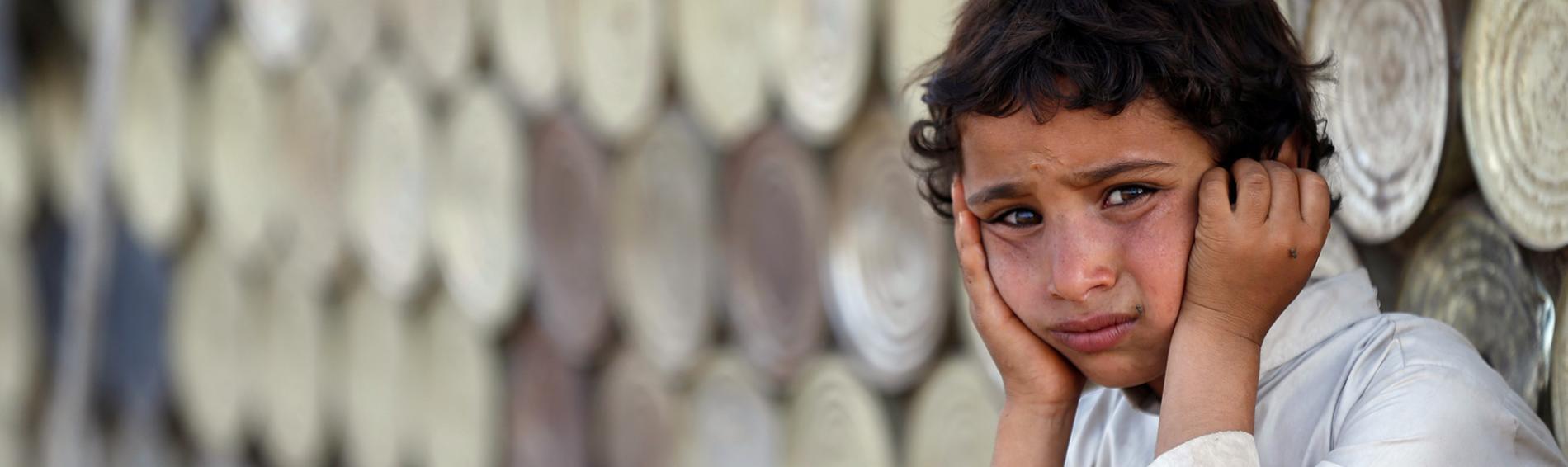 Kinder sind vom jahrelangen Krieg und der damit verbundenen Not besonders betroffen.
