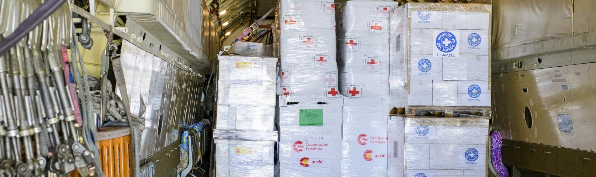 Seife, Handtücher und andere alltägliche Hygieneprodukte sind in Krisenzeiten unentbehrlich für die Gesundheit und das Wohlbefinden der von der Erdbebenkatastrophe betroffenen Menschen. Foto: AECID/Spanish Ministry of Foreign Affairs