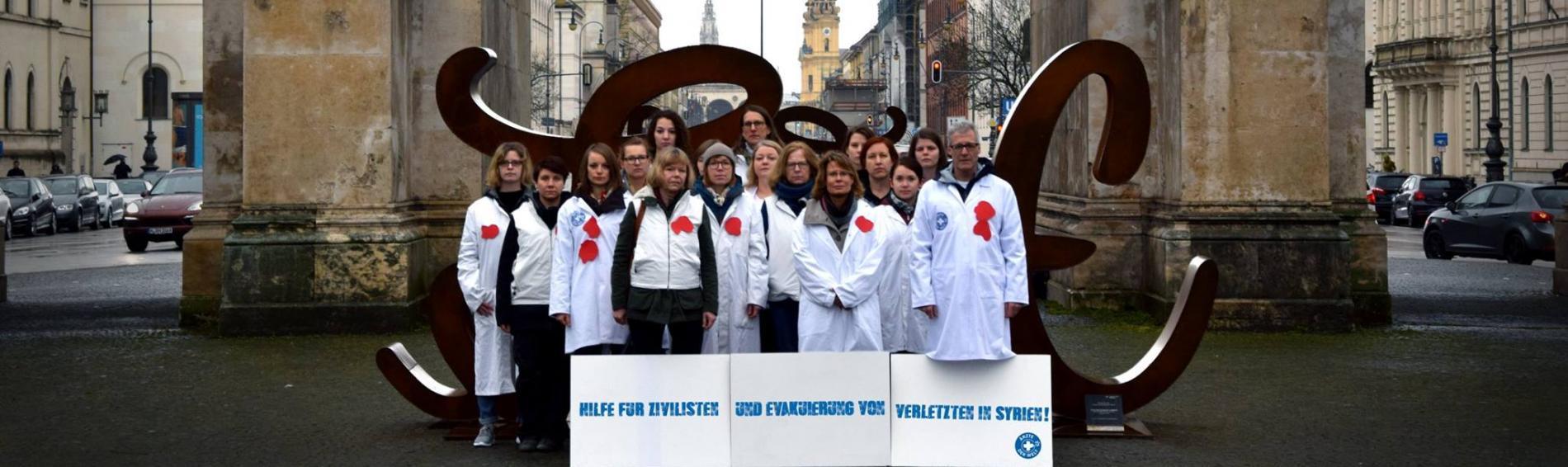 In München demonstriert die deutsche Sektion von Ärzte der Welt. Foto: Ärzte der Welt